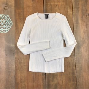 Theory cable knit white sweater size medium